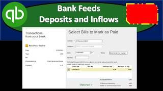 Bank Feeds Deposits and Inflows QuickBooks Pro Desktop 2019
