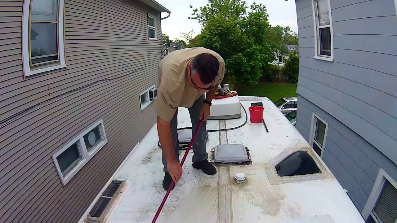 Rv Roof Cleaning And Inspection Youtube