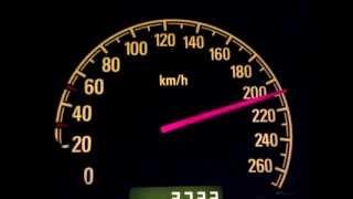 Opel Signum (Vectra C) 2.0 T  175 PS  0-210 km/h (!Tacho!)