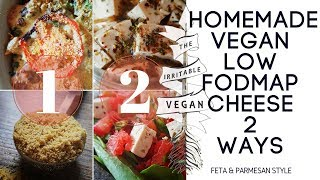 Homemade Vegan Low FODMAP Cheese 2 Ways