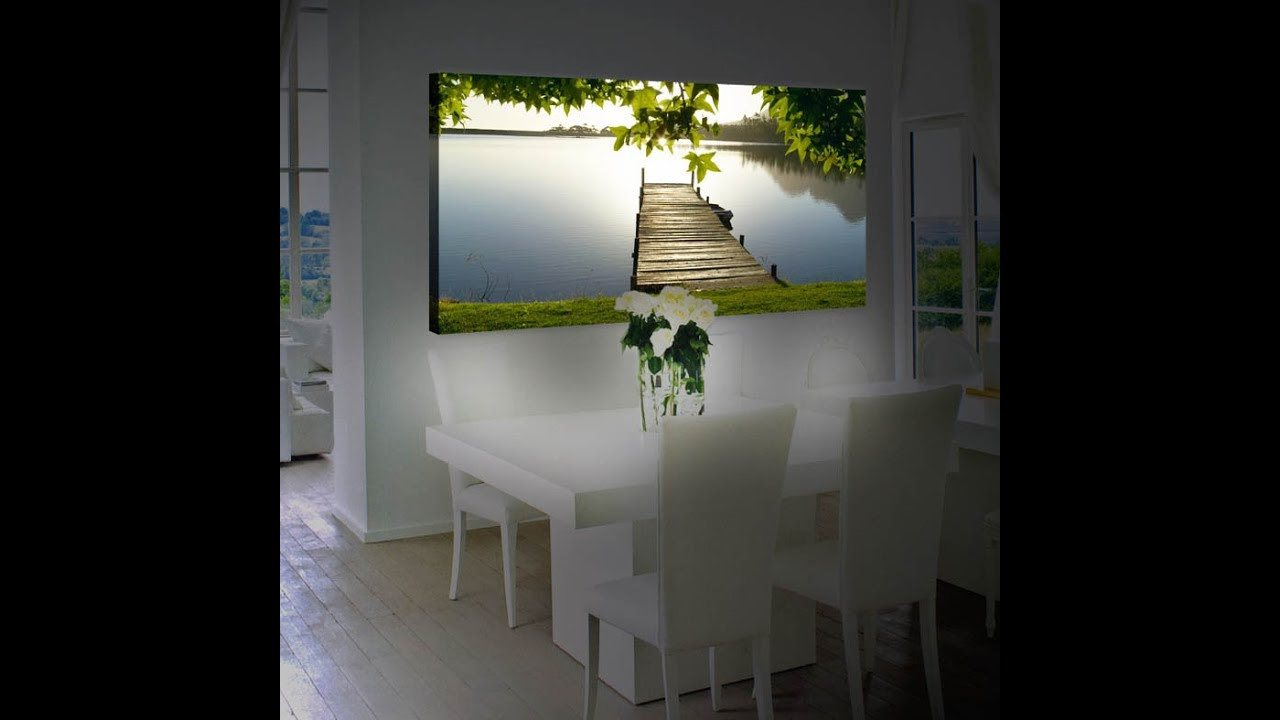 Ideas para decorar tu casa Cuadros con Iluminacion Led YouTube