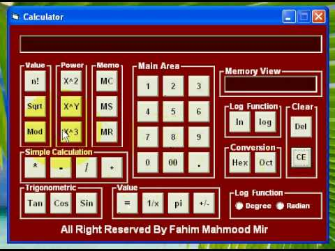My Visual Basic First Project Scientific Calculator