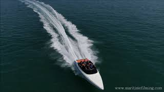 Extreme 21 Racing Boat! BY DRONE ~ Maritime Filming UK