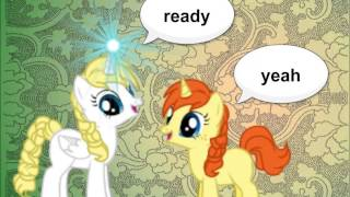 frozen mlp comic elsa and anna playing