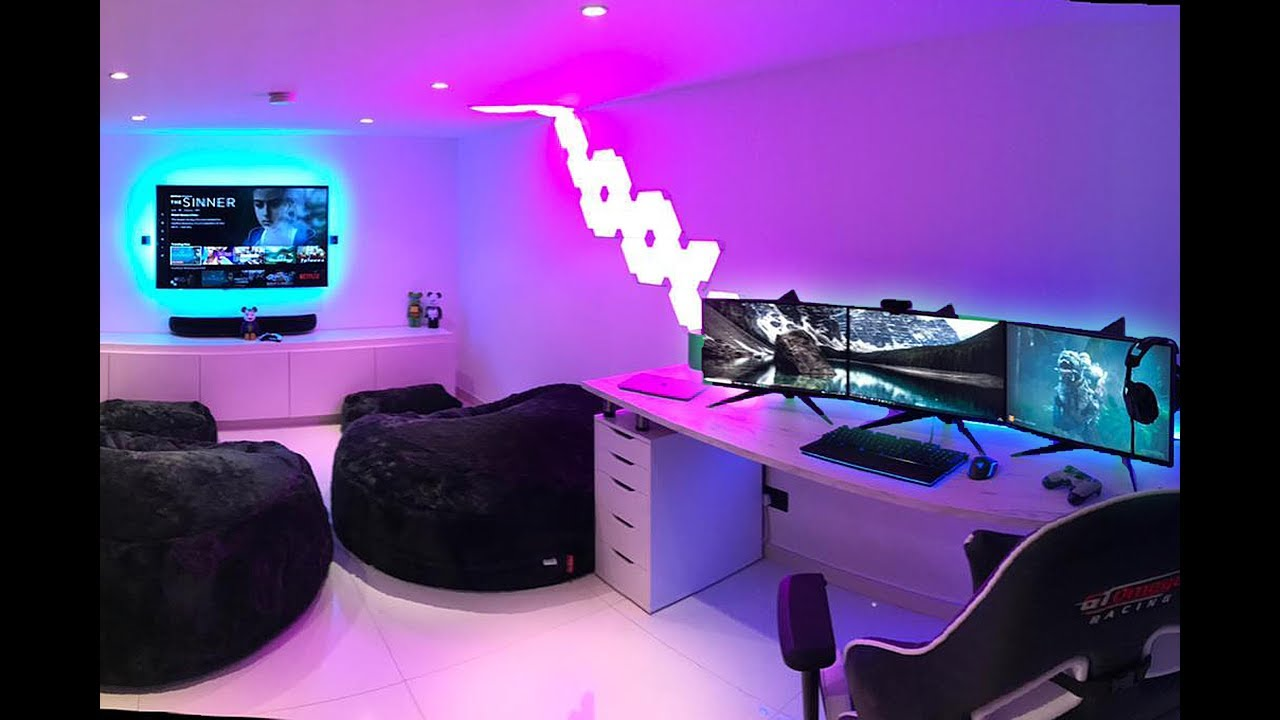 MY ULTIMATE GAMING SETUP/ ROOM TOUR! - YouTube