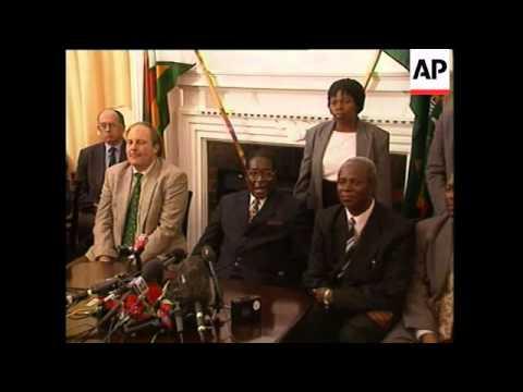 ZIMBABWE: WHITE FARM LEADERS MEET PRESIDENT MUGABE