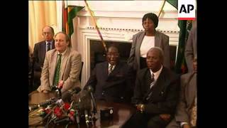 ZIMBABWE: WHITE FARM LEADERS MEET PRESIDENT MUGABE