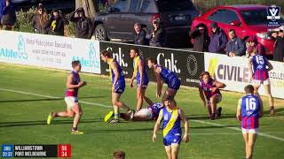 VFL Round 20 WILvPOR Highlights