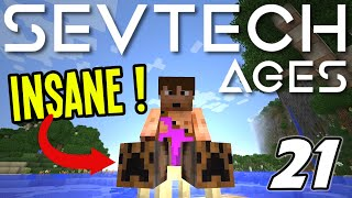 Minecraft Sevtech: Ages - HORSE CART is AMAZING! (Modded