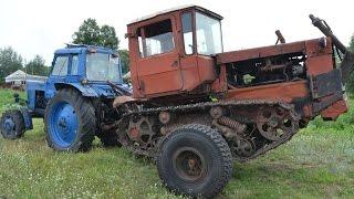 Фермер Иван Золотарь. Трактор ДТ-75 на колёсной паре