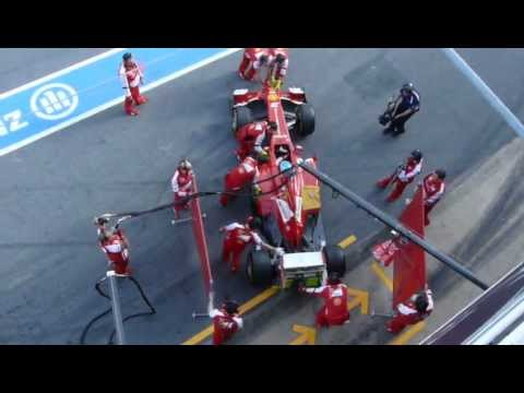 Formula 1 Pit Stop Fernando Alonso Ferrari Tests F1 Montmelo 3-3-2013