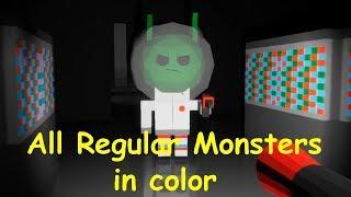 All Regular Monsters in color - Strange Terror From Beyond The Stars