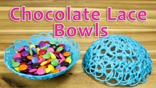 Making Chocolate Lace Bowls: Bowls Made of Chocolate by Cookies Cupcakes and Cardio