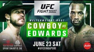 UFC Singapore Live Reacton Donald Cerrone vs Leon Edwards