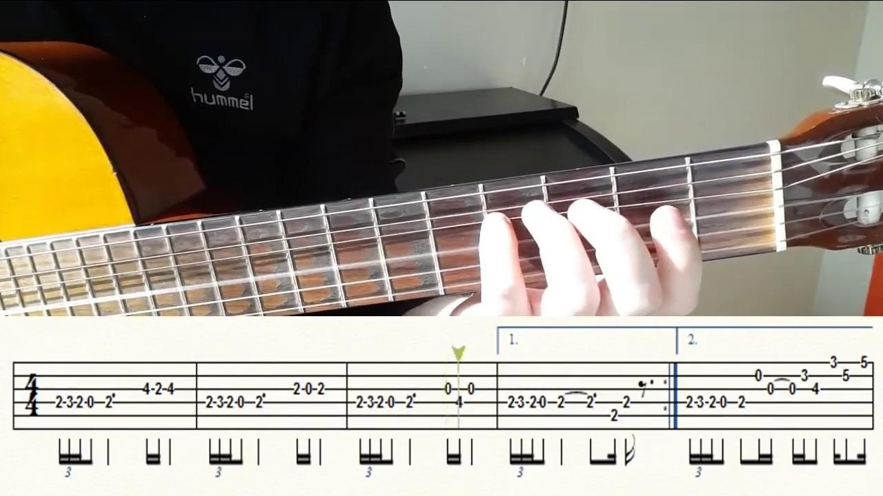 Gulpembe Gitar Solo Nota Tab Gitar Dersleri Tutorial Youtube