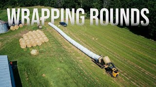 Wrapping with Ryan | Wrapping Round Bales