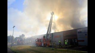 VIDÉO. Violent incendie dans un commerce au sud de Blois