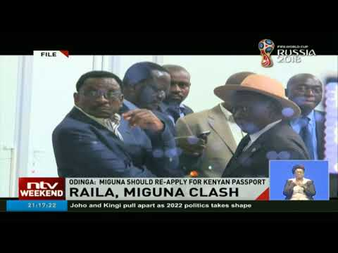 Raila Odinga speaks for the first time on Miguna deportation drama