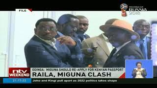 Raila Odinga speaks for the first time on Miguna deportation drama