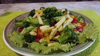 Салат с брокколи - низкокалорийный, вкусный, красивый) Всем любителям здорового питания)