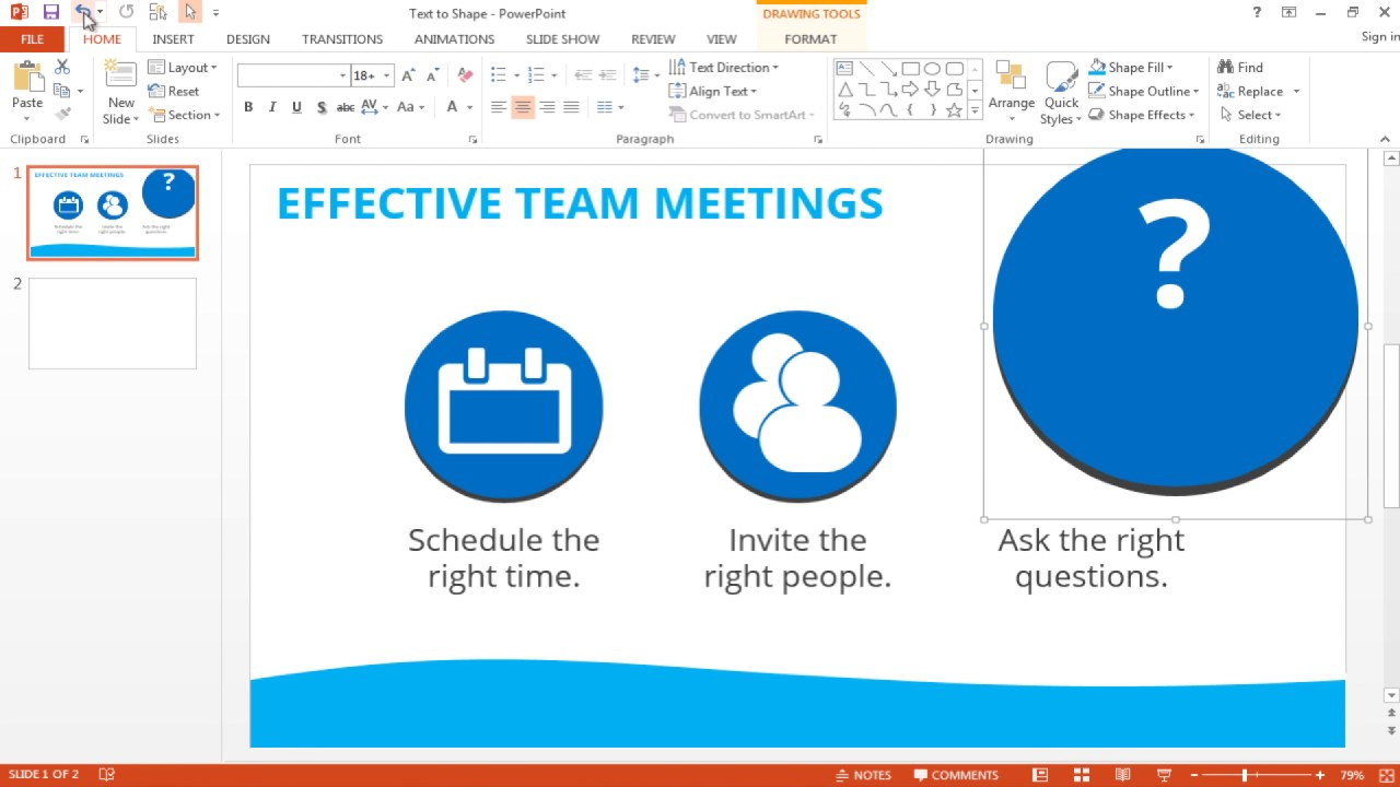 How to Convert Text to Shapes in PowerPoint