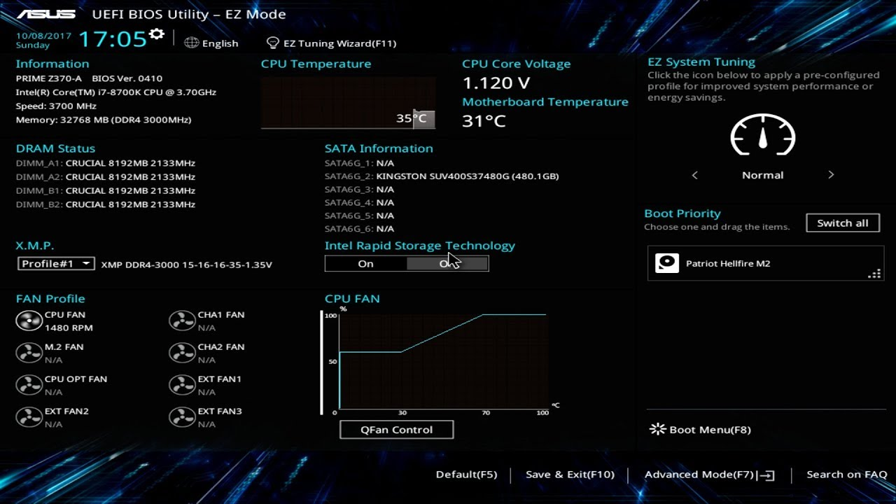 ASUS Prime Z370-A BIOS Overview
