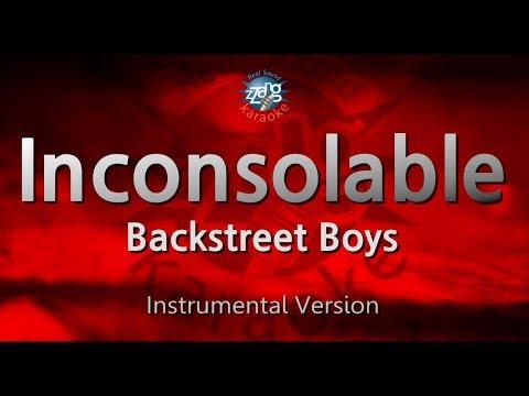 Backstreet Boys-Inconsolable (MR) (Karaoke Version) [ZZang KARAOKE]
