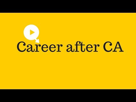 Career after CA (Chartered Accountant) | How to get a Job (Chartered Accountant)