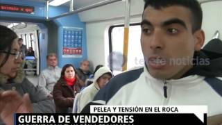 Pelea de vendedores en el tren Roca - NOTI.20