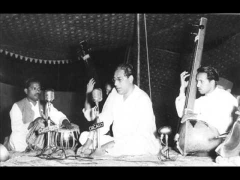 Ustad Amir Khan Singing Raga Hamsadhwani, 1955