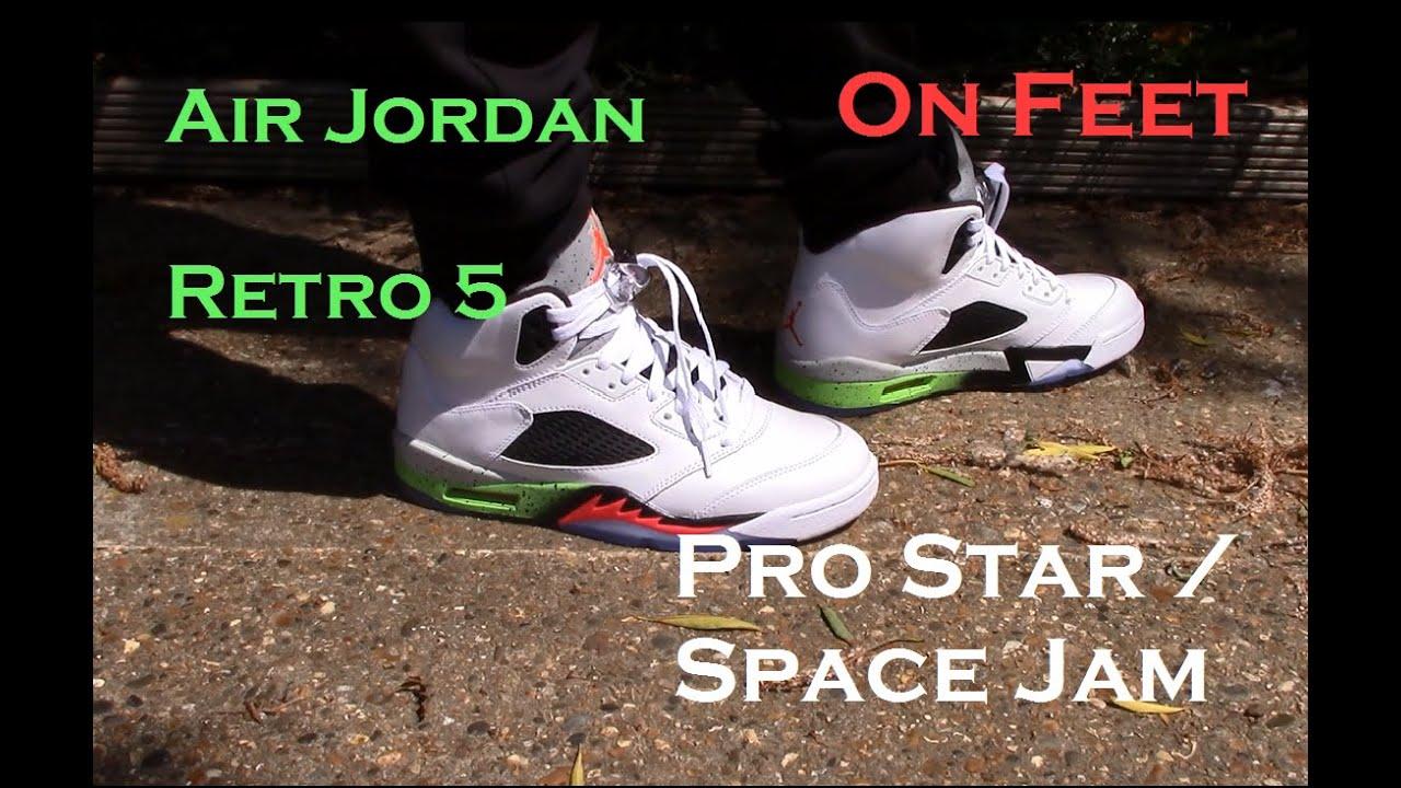f70c4c6abdd ... Air Jordan Retro 5 'Pro Star/ Space Jam' On Feet ...