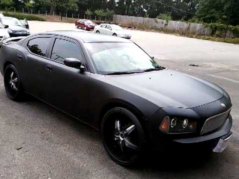 Worlds 1st Matte Black Dodge Charger On Stauts 24 Quot Youtube