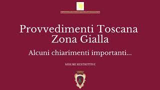 Da domenica 20 dicembre 2020 la toscana passa in zona gialla fino al 23 2020.qui alcuni chiarimenti importanti.#montevarchi #iosonomontevarchi #covi...
