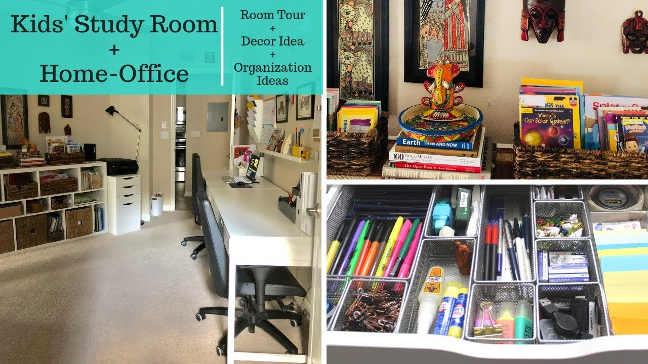 Kidsu0027 Study Room And Home Office Organization U0026 Decor Tour