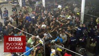 В Венгрии мигрантам кидают еду, как животным - BBC Russian