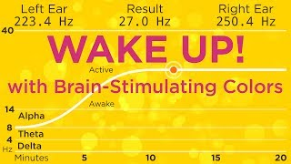 The Best Binaural Beats to WAKE UP! With 589nm orange to stimulate your brain