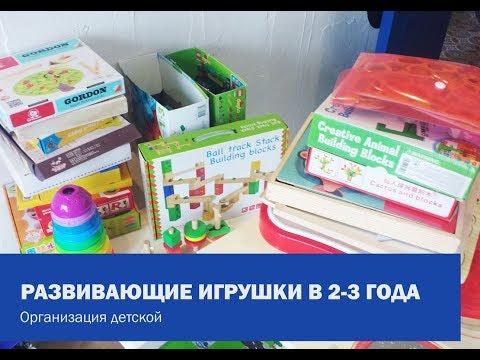 РАЗВИВАЮЩИЕ ИГРУШКИ В 2-3 ГОДА \ Во что играем каждый день. Организация детской