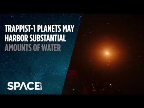 TRAPPIST-1 Planets May Harbor Substantial Amounts of Water