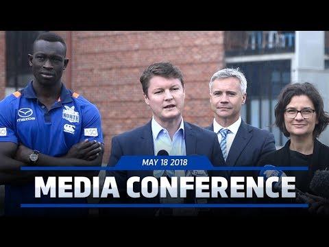 Ben Carroll, Majak Daw, Carl Dilena media conference (May 18, 2018)