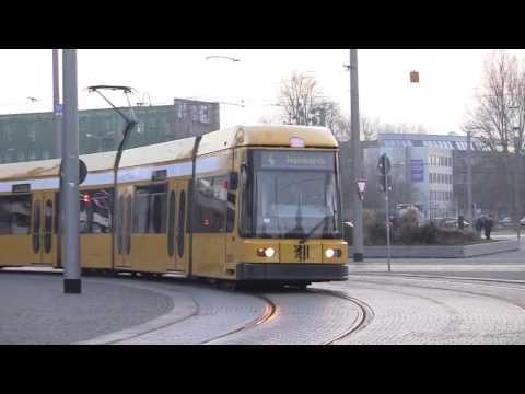 Dresden Trams, Dresden, Saxony, Germany - February 2014