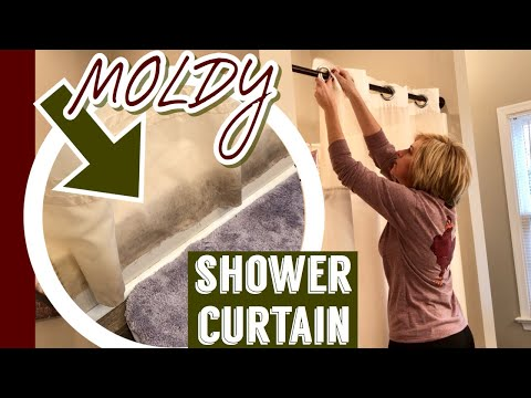 How I Clean Our NASTY SHOWER CURTAIN With Bleach   2020 CLEANING MOTIVATION   LIVING GRATEFULLY