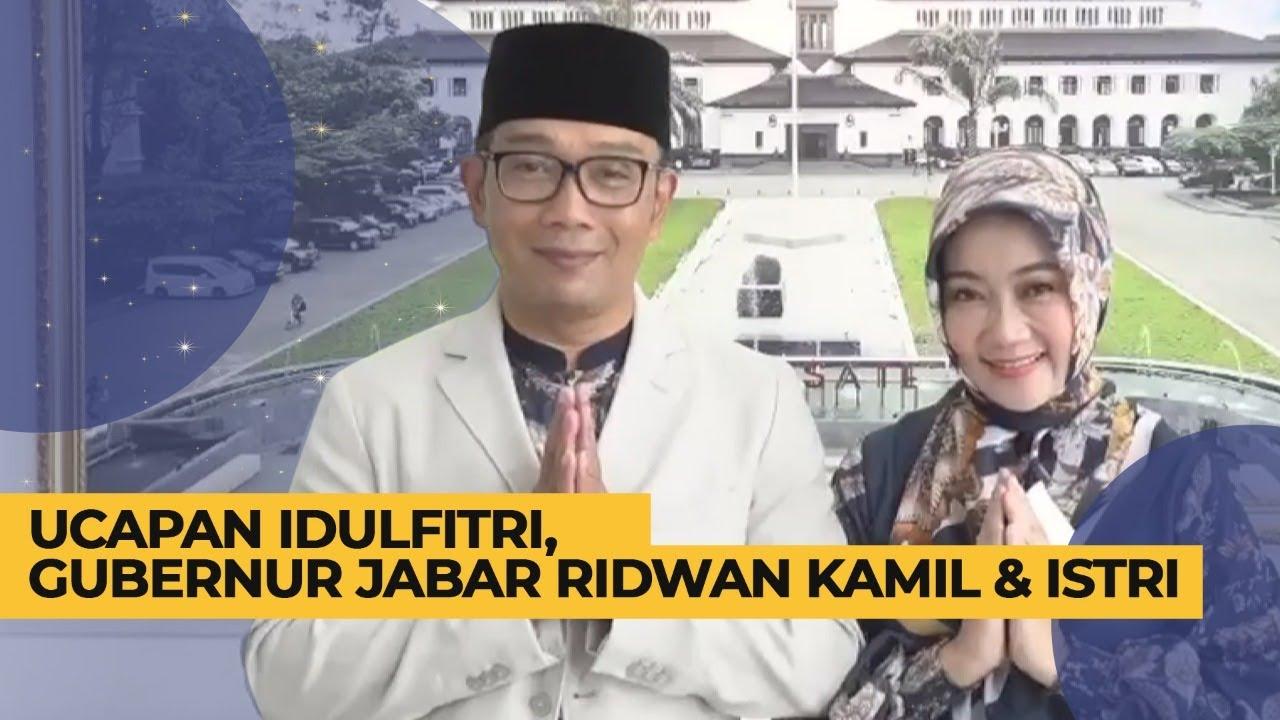 Ucapan Idulfitri dari Gubernur Jabar Ridwan Kamil dan Istri