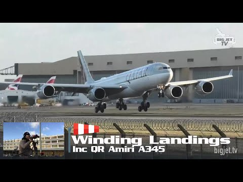 Windy Arrivals LIVE From London Heathrow #Airport - 27R