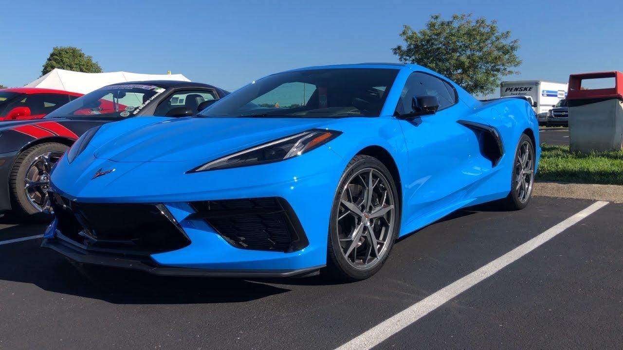 2020 Corvette C8 Rapid Blue In The Wild Youtube