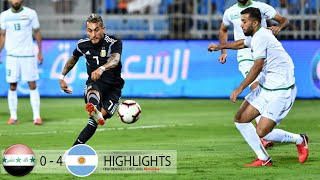 IRAQ VS ARGENTINA 0-4 11/10/2018. All GOALS and Match Highlight . HD
