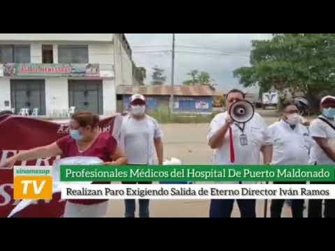 Médicos del hospital de Pto. Maldonado realizan paro exigiendo salida de eterno director Iván Ramos