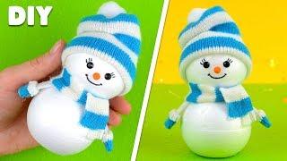 Как сделать снеговика своими руками | DIY Новогодние поделки