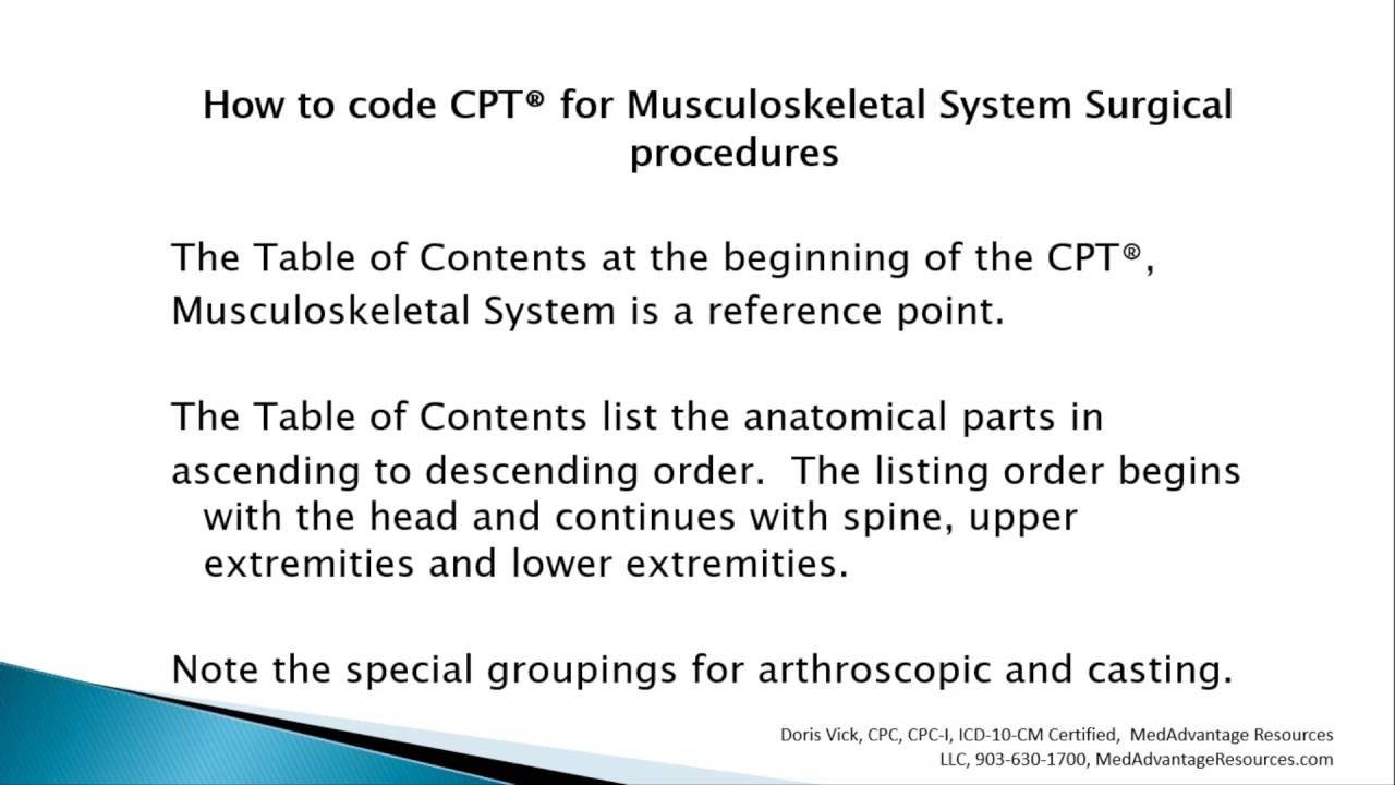 how to code cpt for musculoskeletal system surgical procedures rh youtube com Integumentary System Body Integumentary System Cartoon