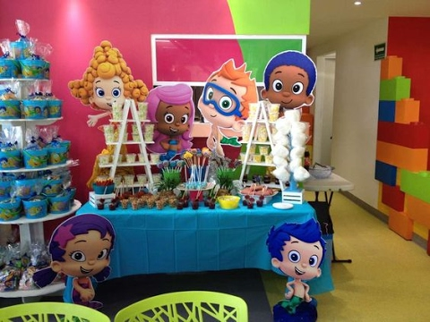 Fiesta De Bubble Guppies Mesa De Dulces 2017 Adornos Party
