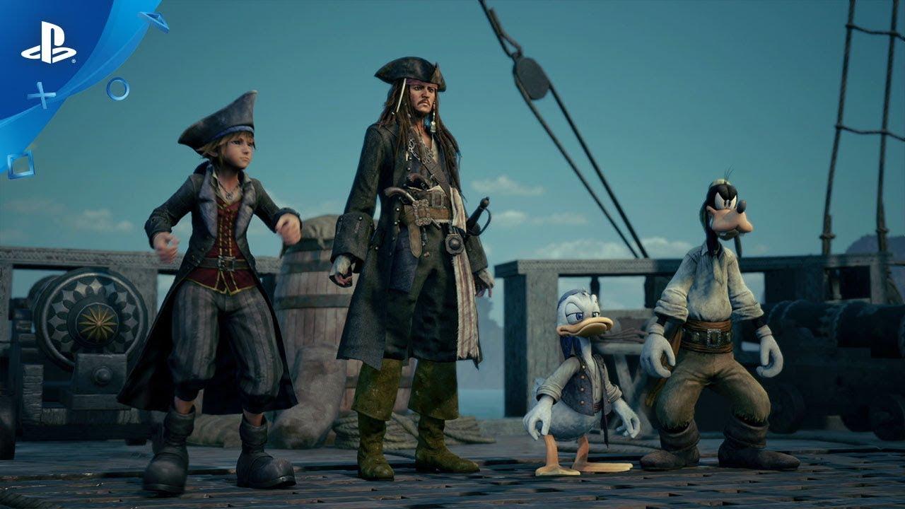 New Kingdom Hearts III Trailer Reveals Pirates of the Caribbean